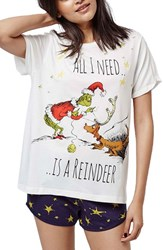 Women's Topshop 'The Grinch' Short Pajamas