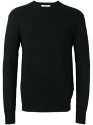 Givenchy Contrast Rib Knitted Sweater Black