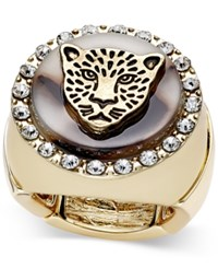 Thalia Sodi Gold Tone Leopard Head Stretch Ring Only At Macy's