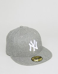 New Era 59Fifty Ny Yankees Fitted Cap In Melton Wool Gray