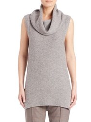 Elie Tahari Petra Wool And Cashmere Cowlneck Sweater Antique Grey