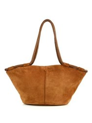 The Row Suede Market Tote Saddle