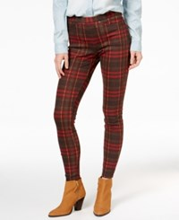 Hue Holiday Plaid Original Denim Leggings Black