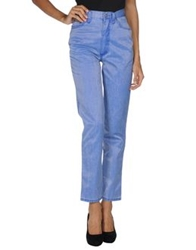 Blu Byblos Casual Pants Blue