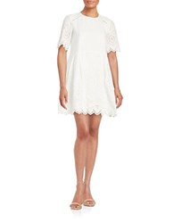 French Connection Josephine Cotton Eyelet Dress Summer White