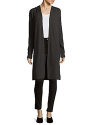 Marc New York Knitted Hooded Duster Charcoal