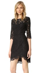 Cupcakes And Cashmere Joby Fitted Lace Dress Black