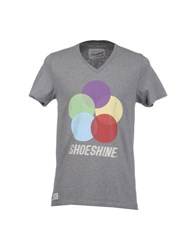Shoeshine Topwear Short Sleeve T Shirts Men Dark Blue