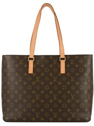 Louis Vuitton Vintage Luco Shoulder Tote Women Leather One Size Brown