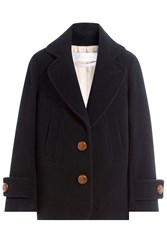 See By Chloe Coat With Oversized Buttons Blue