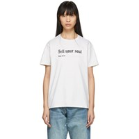 R 13 R13 Off White Sell Your Soul Boy T Shirt