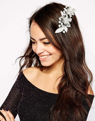Love Rocks Articulated Flower Hair Clip Silver