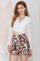 Nasty Gal Just In Lace Sheer Top