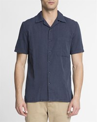 Nudie Jeans Navy Blue Micro Dot Mc Brandon Shirt