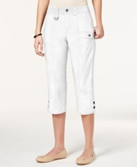 Styleandco. Style And Co. Petite Tummy Control Capri Pants Only At Macy's Bright White