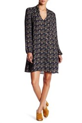 Daniel Rainn Tie Neck Dress Blue