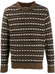 Universal Works Patterned Jumper Blue