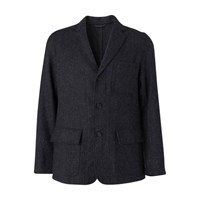 Hartford Jag Wool Blazer Charcoal Grey Tweed