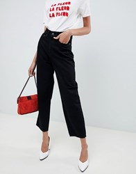 Selected Femme Mom Jeans Black