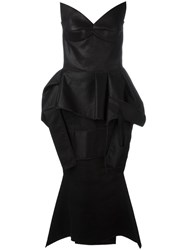 Maticevski Strapless Peplum Dress Black