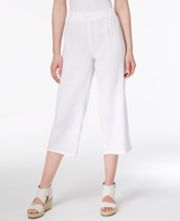 Eileen Fisher Organic Cotton Cropped Pants Regular And Petite White