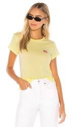 Amuse Society Sil Vous Play Tee In Yellow. Citron