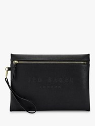 Ted Baker Grera Leather Pouch Clutch Bag Black