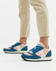 Saucony Pink And Blue Jazz Original Vintage Trainers Multi