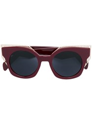 Oxydo Cat Eye Tinted Sunglasses Red