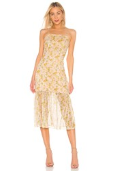 Elliatt Wattle Detachable Skirt Dress Yellow