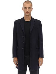 Dsquared Tokyo Woven Wool Blend Coat Navy