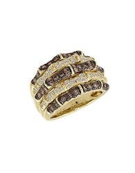 Levian Chocolate And Vanilla Diamond 14K Yellow Gold Ring 1.27 Tcw Chocolate Diamond Gold