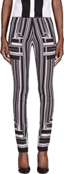 Peter Pilotto Black And White Stripe Skinny Trousers