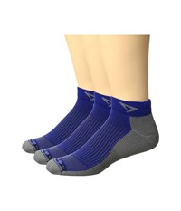 Drymax Sport Running Mini Crew 3 Pack Royale Anthracite Crew Cut Socks Shoes Blue