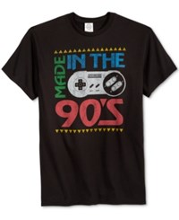 Fifth Sun Men's Nineties Nintendo Graphic Print T Shirt Black