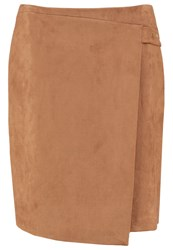 Cortefiel Pencil Skirt Beige Camel