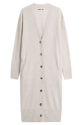 Mcq By Alexander Mcqueen Wool Cashmere Long Cardigan Beige