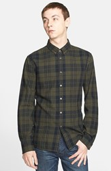 Men's Blk Dnm Extra Trim Fit Plaid Shirt