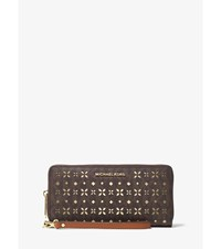Jet Set Travel Perforated Logo Continental Wallet