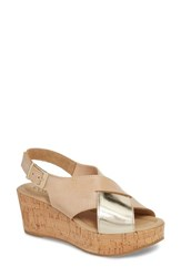 Cordani Cleary Wedge Sandal Natural Gold Leather