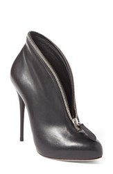 Alexander Mcqueen Zipper Bootie Women Black Leather