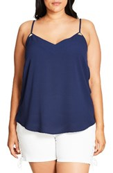 City Chic Plus Size Women's Luxe Detail Camisole Navy