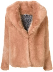 Opening Ceremony Short Fur Jacket Pink And Purple