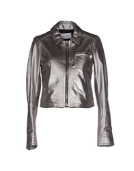 Mauro Grifoni Coats And Jackets Jackets Women Silver
