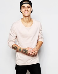 Asos Long Sleeve T Shirt With Scoop Neck In Pink