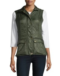 Barbour Sleeveless Quilted Vest Kelp