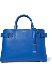 Michael Kors Collection Buckled Textured Leather Tote Royal Blue