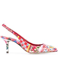 Dolce And Gabbana Bellucci Sling Back Pumps