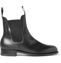 J.M. Weston Leather Chelsea Boots Black