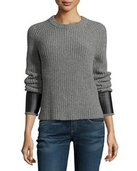 Rag And Bone Rag And Bone Jean Bonnie Crewneck Long Sleeve Sweater Medium Gray Size M Med Gry